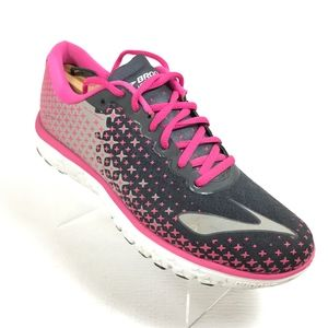Brooks Pure Flow 5 Pink/Blk/Gray Mesh Running Shoe